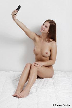 Girl beim Sexting