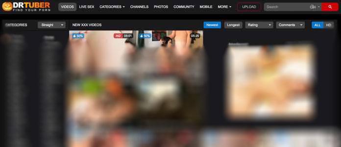 DrTuber die Sexseite mit Videos und Cams