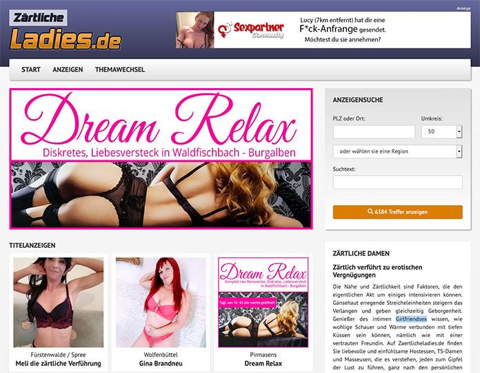 zaertlicheladies.de bietet Anzeigen von Huren für Girlfriendsex