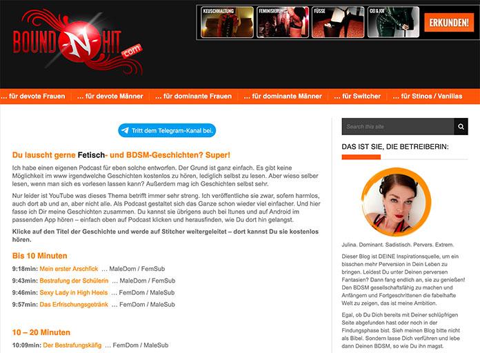 Bound-n-Hit.com Bondage-Geschichten