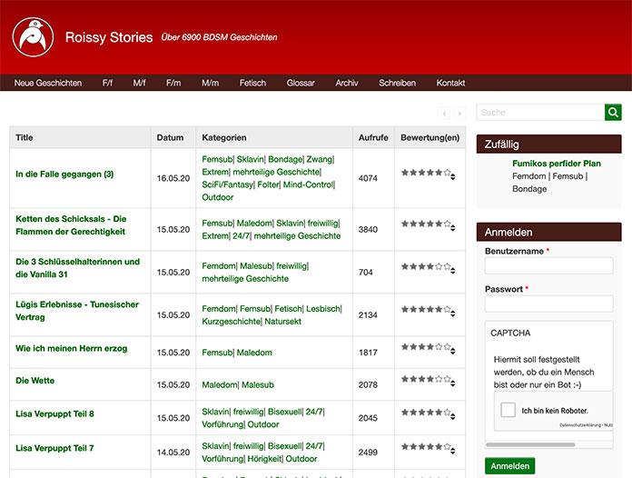 RoissyStories.com Bondage-Geschichten