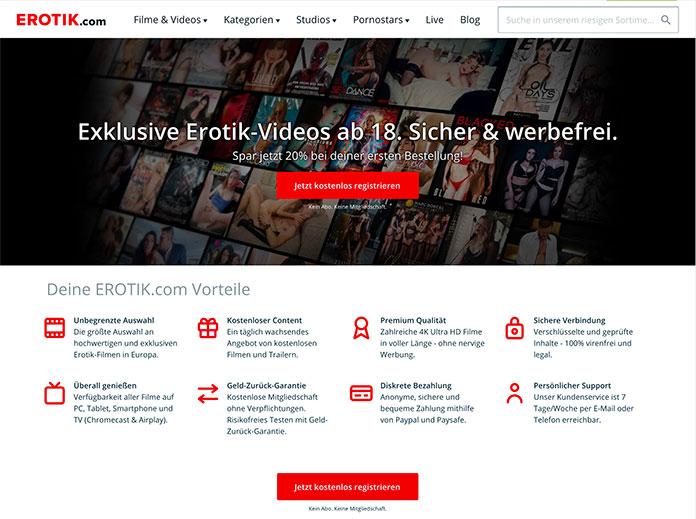 Erotik.com bietet sichere VOD Pornos